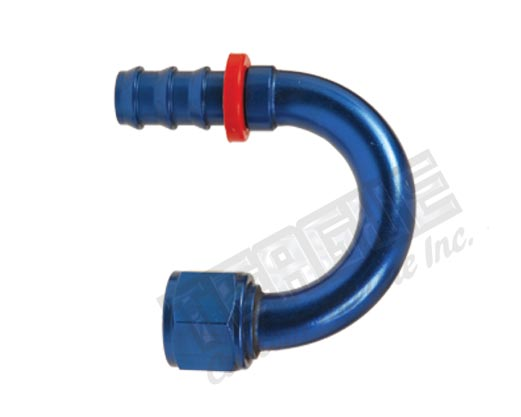 Aluminum Push Lock Hose Ends 180 Degree