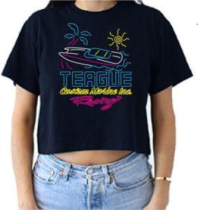 Teague Neon Vibes Crop Tee