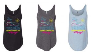 Teague Neon Vibes Women's Tank Top, (L to R: Black, Charcoal Grey, Stonewashed Denim)