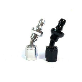-04 AN 30d Aluminum PUSH LOCK HOSE END