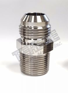 """Picture of -12 AN x 3/4"""" NPT STAINLESS STEEL ADAPTER"""