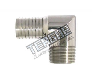"Stainless Steel Elbo 1.25""NPT X 1.25 push"