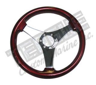 Grant Non Directional 3 Spoke steering wheel, Red