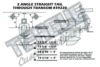 THRU-TRANSOM E-TOP TAILPIPES 2 ANGLE TRANSMISSION STRAIGHT