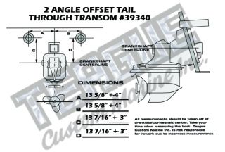 THRU-TRANSOM E-TOP TAILPIPES 2 ANGLE TRANSMISSION OFFSET