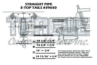 TRANSOM TIP E-TOP TAILPIPES STRAIGHT