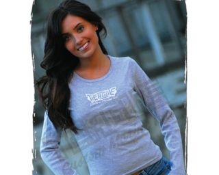 Ladies Long Sleeve Scoop Neck Sparkle Tee