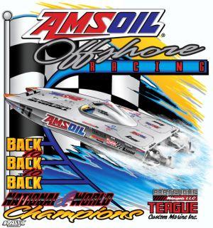 Team AMSOIL Offshore T-Shirt Back Design