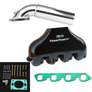 """Picture of PowerFlow Big Block Manifold and """"A"""" Riser Kit Black"""