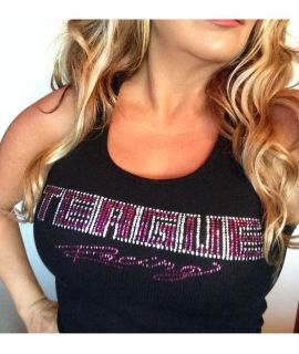Teague Bling Tank Top with Fuchsia Rhinestones