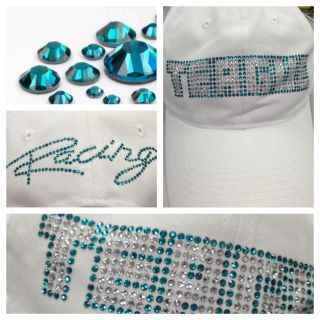 Teague Bling hat with Teal Crystals