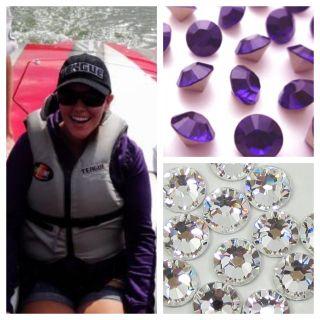 Teague Custom Marine Bling Hat with Purple Velvet Rhinestones