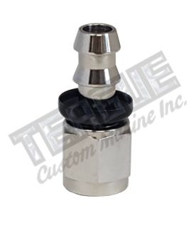 -06 AN STR STAINLESS STEEL PUSH LOCK HOSE END
