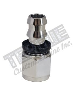 -08 AN straight STAINLESS STEEL PUSH LOCK HOSE END