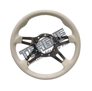 Grant F-9 Steering Wheel, White Grip / Polished Spokes (CALL FOR AVAILABILITY)