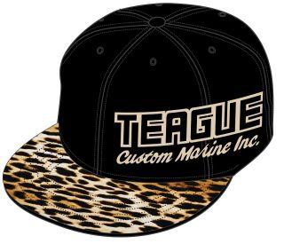 Teague Leopard Side Logo Snap Back Hat, Left Front panel