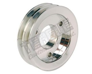 Billet Double Groove Crank Pulley - Nonsupercharged