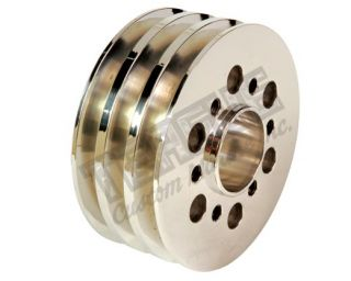 Billet Triple Groove Crank Pulley - Supercharged