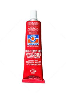 Red RTV HT Silicone 3oz Tube