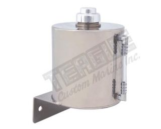 """Stainless Remote Overflow Tank 1/4""""npt"""