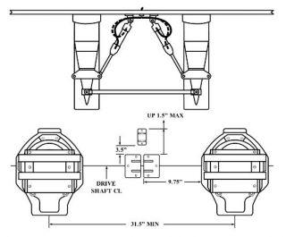 B-MAX TWIN ENGINE, DUAL RAM INSIDE KIT, 31.5 MIN CENTERS