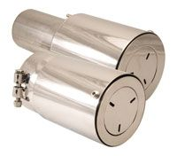 "Sound Elimination Mufflers 4.5"" x 5"" Clamp On"