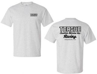 Teague Racing T-shirt in Ash Grey