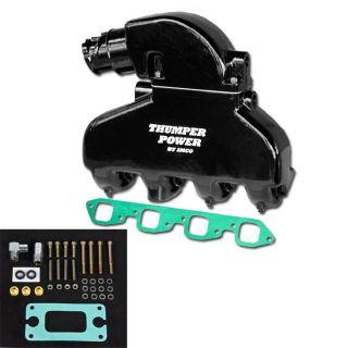 Thumper Power Big Block Manifold & Riser Kit Black
