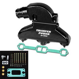 Thumper Power Small Block Manifold & Riser Kit Black