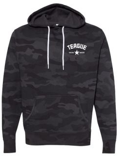 Teague Varsity Camo Pullover Hoodie, Front