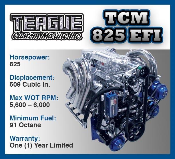 engine-825-efi teague custom Marine
