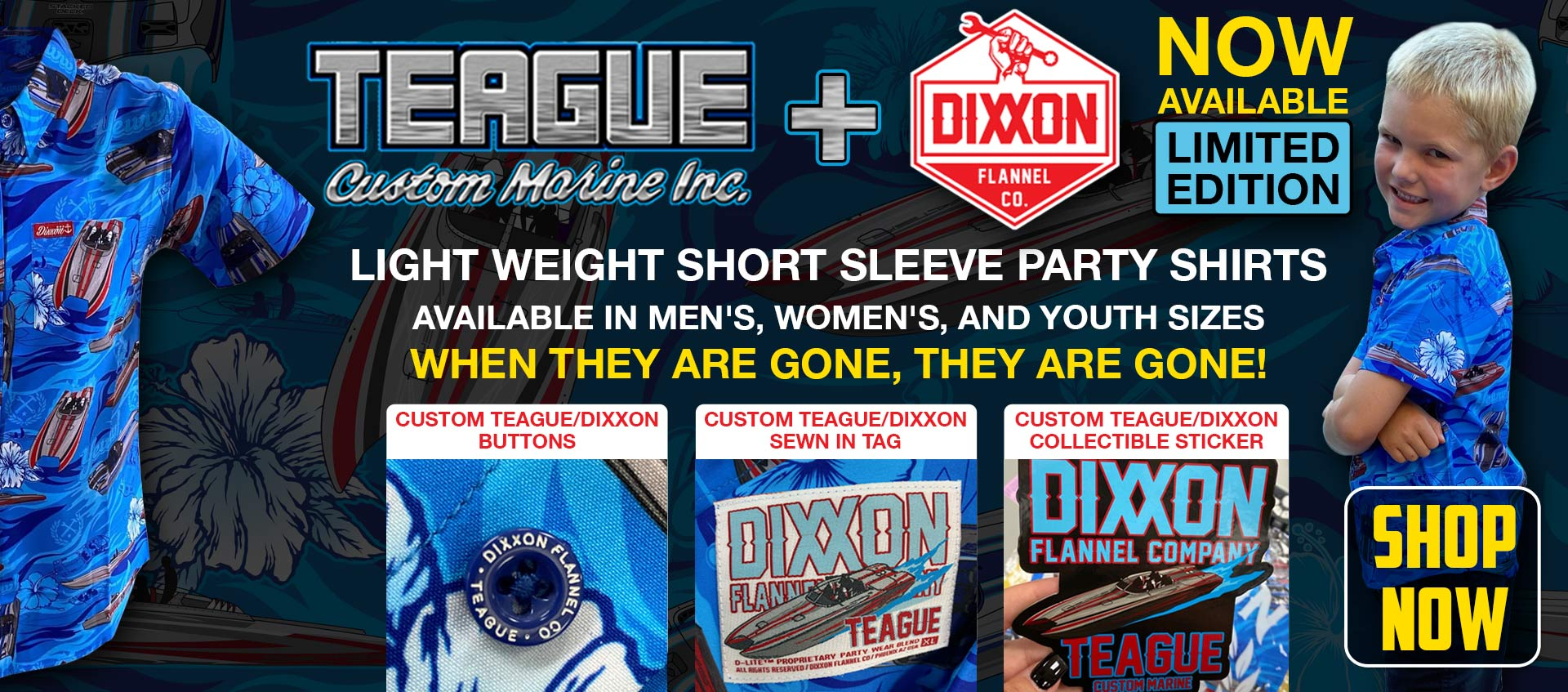 New Exclusive Dixxon/Teague Party Shirts Now Available