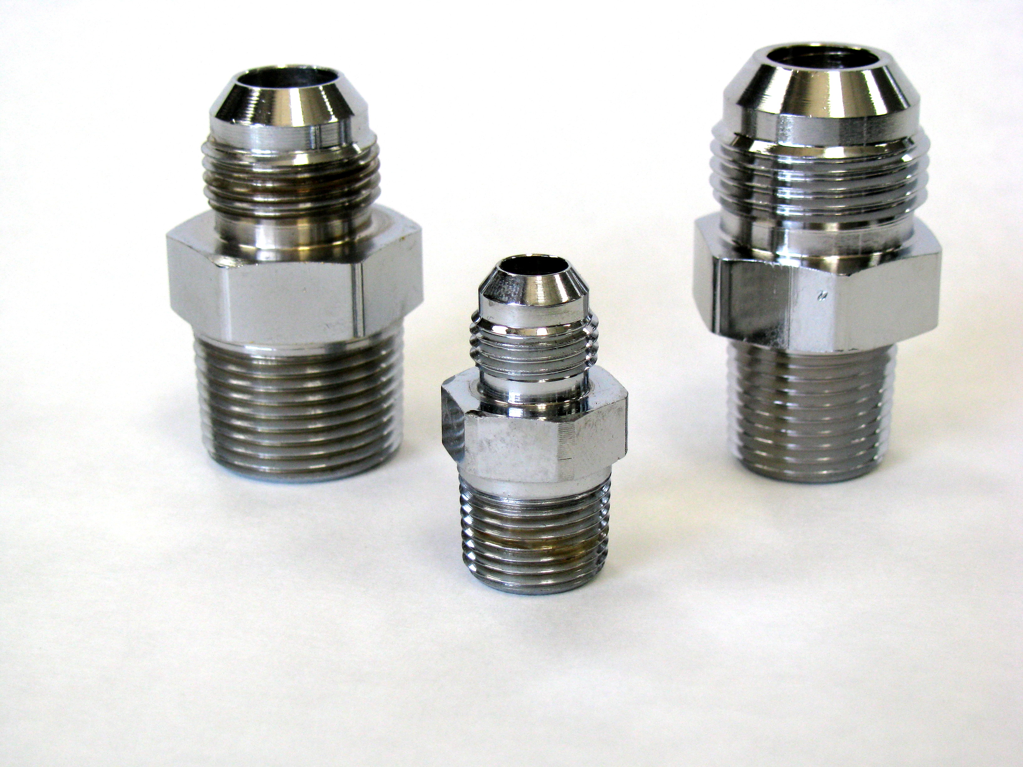 Chrome Brass NPT Adapters Straight