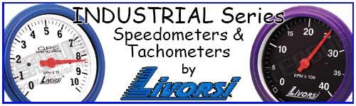 """3 3/8"""" Industrial Series Speedometer & Tachometer"""