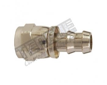 -12 AN CHROME BRASS PUSH LOCK HOSE FITTING
