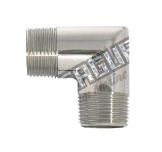 "Stainless Steel Elbo 3/4""MPT X 3/4""MPT"