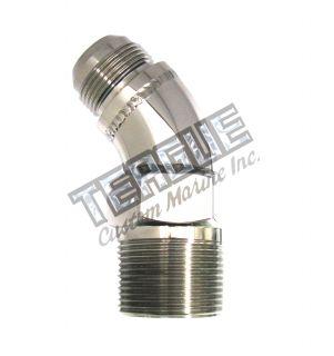 "Stainless Steel Elbo -16 X 1""npt 45"