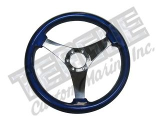 Grant Non Directional 3 Spoke steering wheel,  Blue