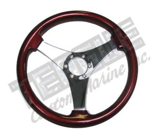 Grant Non Directional 3 Spoke steering wheel, Red