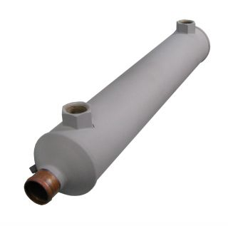 """3"""" dia Oil Cooler 1.25 Push-on water with 3/4""""npt"""