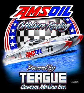 AMSOIL Offshore Racing Tee Back of Shirt