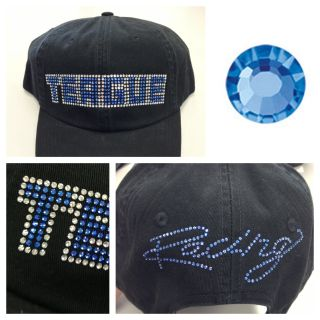 Teague Bling Hat with Sapphire Crystals