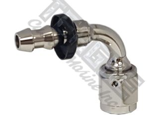 -04 AN 90° STAINLESS STEEL PUSH LOCK HOSE END