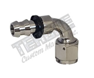 -08 AN 90° STAINLESS STEEL PUSH LOCK HOSE END