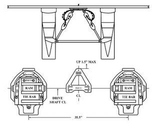 "BRAVO TWIN ENGINE, DUAL RAM INSIDE KIT 35.5"" C/C"
