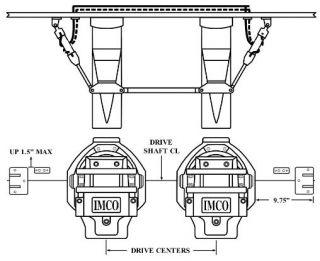 "BRAVO TWIN ENGINE, DUAL RAM OUTSIDE KIT, 9.75"" V-BOTTOM"