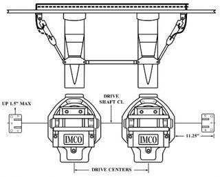 "BRAVO TWIN ENGINE, DUAL RAM OUTSIDE KIT, 11.25"" V-BOTTOM"