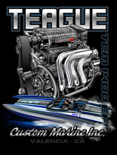Back of Shirt: Teague TCM 1400 EFI design