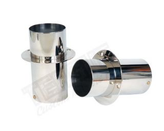 "STAINLESS EXHAUST TIPS 4"" x 8"""