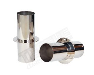 "STAINLESS EXHAUST TIPS 4"" x 11"""
